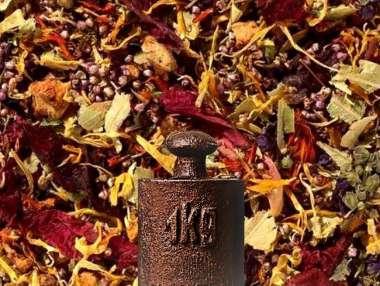 Kräuterteemischung Blütenmeer, Kirsch-Himbeere
