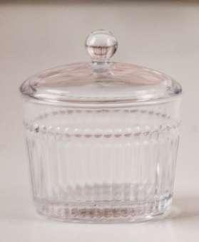 Glasschüssel mit Deckel, oval